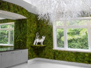 house moss white lamp