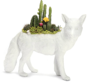 fox figurine garden