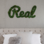 Hanging Wall Letters: Custom Made From Preserved Moss